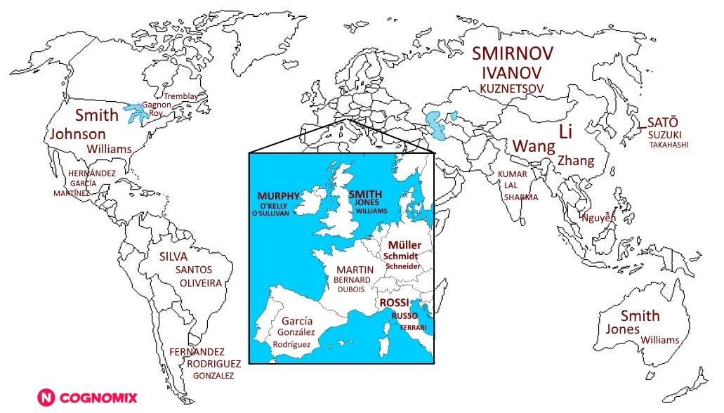 I 10 cognomi più diffusi al mondo 2be276aac38